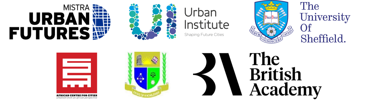 heritage footer logos mistra urban futures, urban institute, sheffield university,  British Academy, ACC, JOUUST,